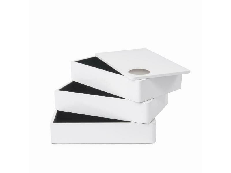 Boîte à bijoux 3 compartiments pivotants
