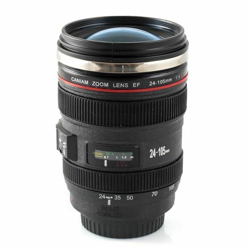 Mug en forme d'objectif d'appareil photo