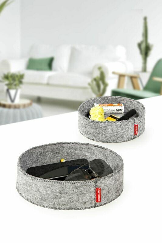 2 vide-poches en feutres gris