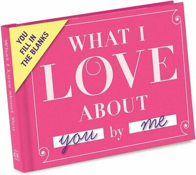 Livre à remplir - What I Love about You by me (en anglais) ♥️