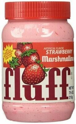 Pâte à tartiner Fluff au marshmallow fraise