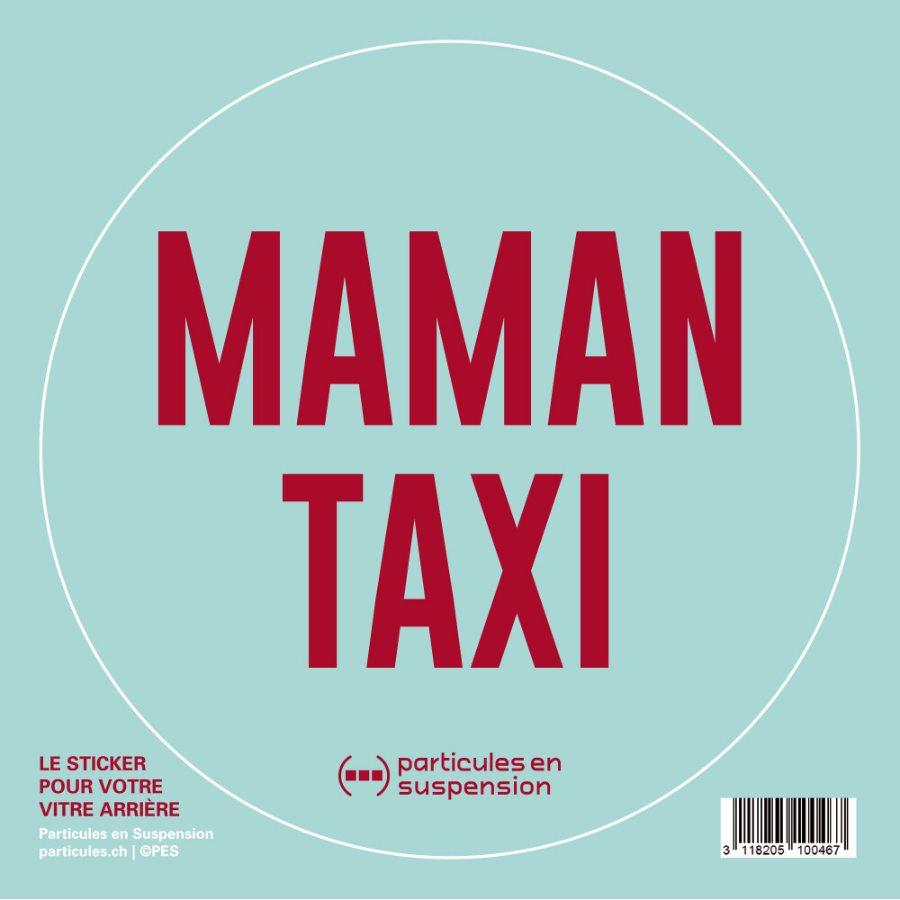 Sticker voiture Particules - Maman Taxi