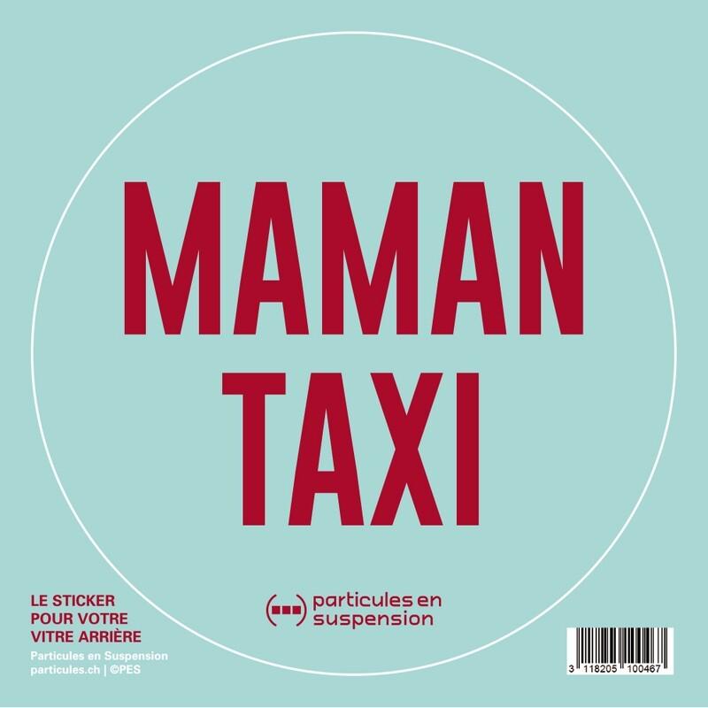 Sticker voiture Particules - Maman Taxi