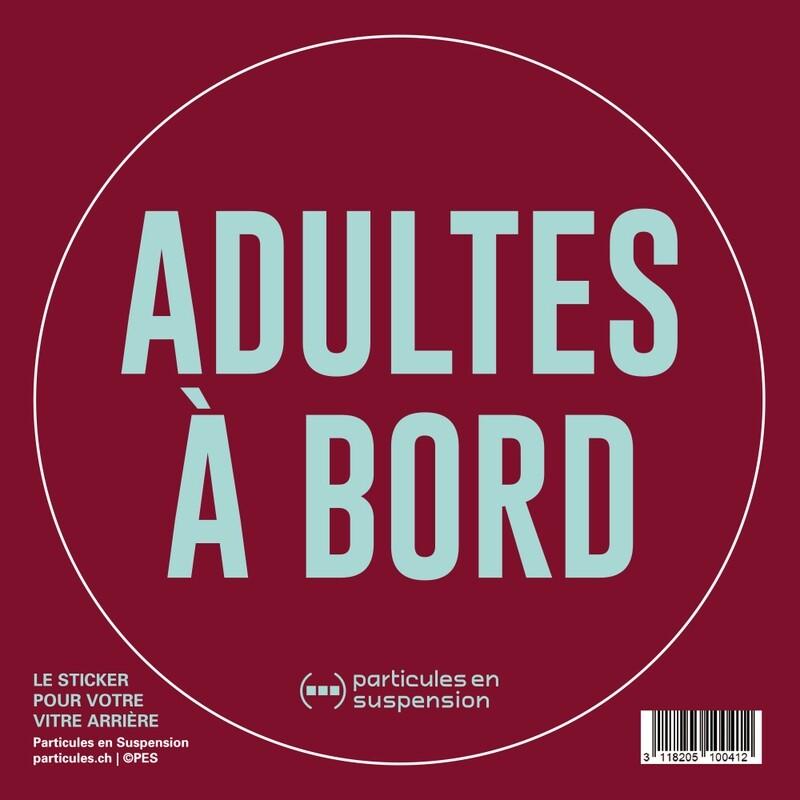 Sticker voiture Particules - Adultes à bord