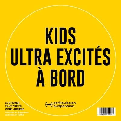 Sticker voiture Particules - Kids ultra excités à bord
