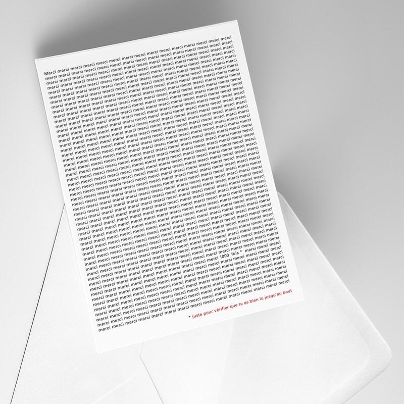 Carte double + enveloppe Particules - 1000 mercis