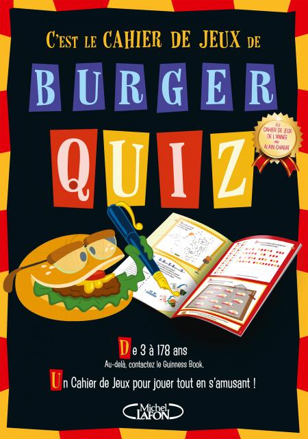 Livre jeu - C'est le cahier de jeux de Burger Quiz