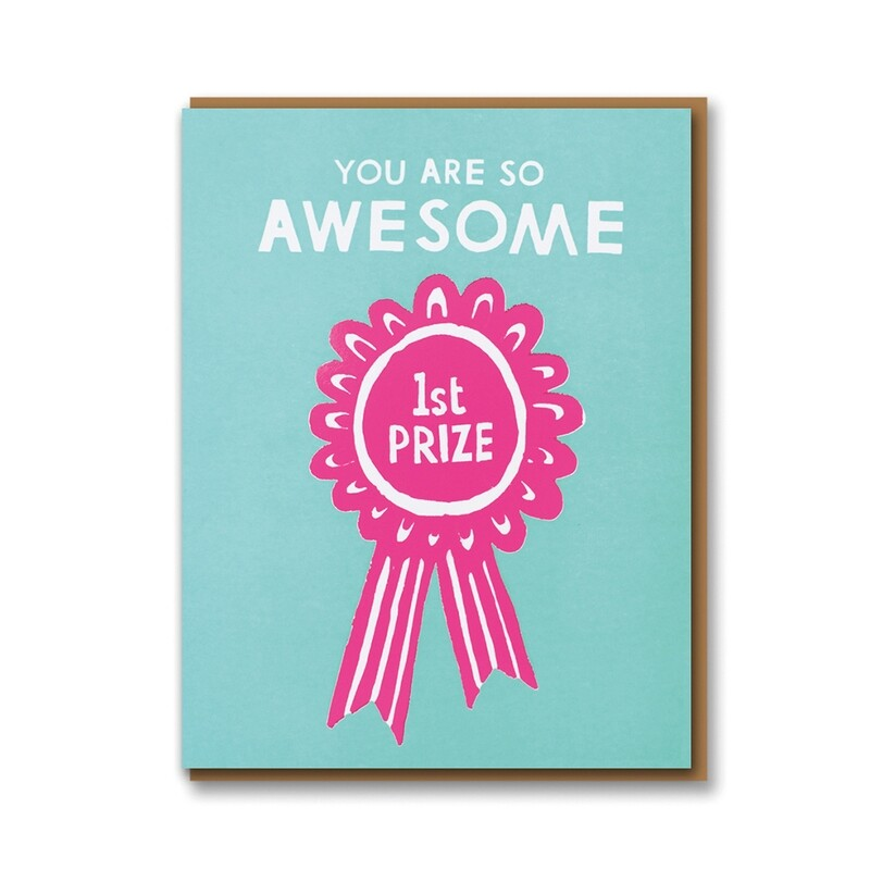 Carte double avec enveloppe - You are so awesome 1st price