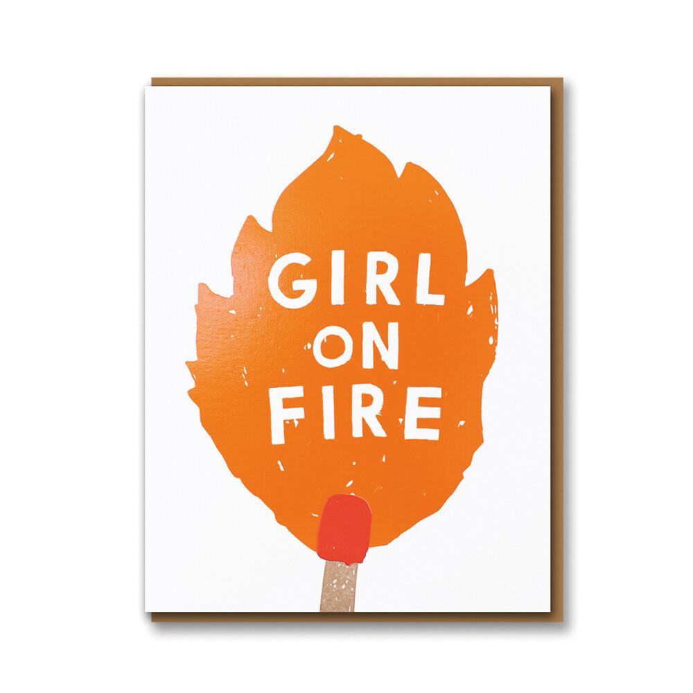 Carte double avec enveloppe - Gril on fire