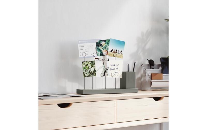 Porte-photos de bureau avec pot à crayon en céramique