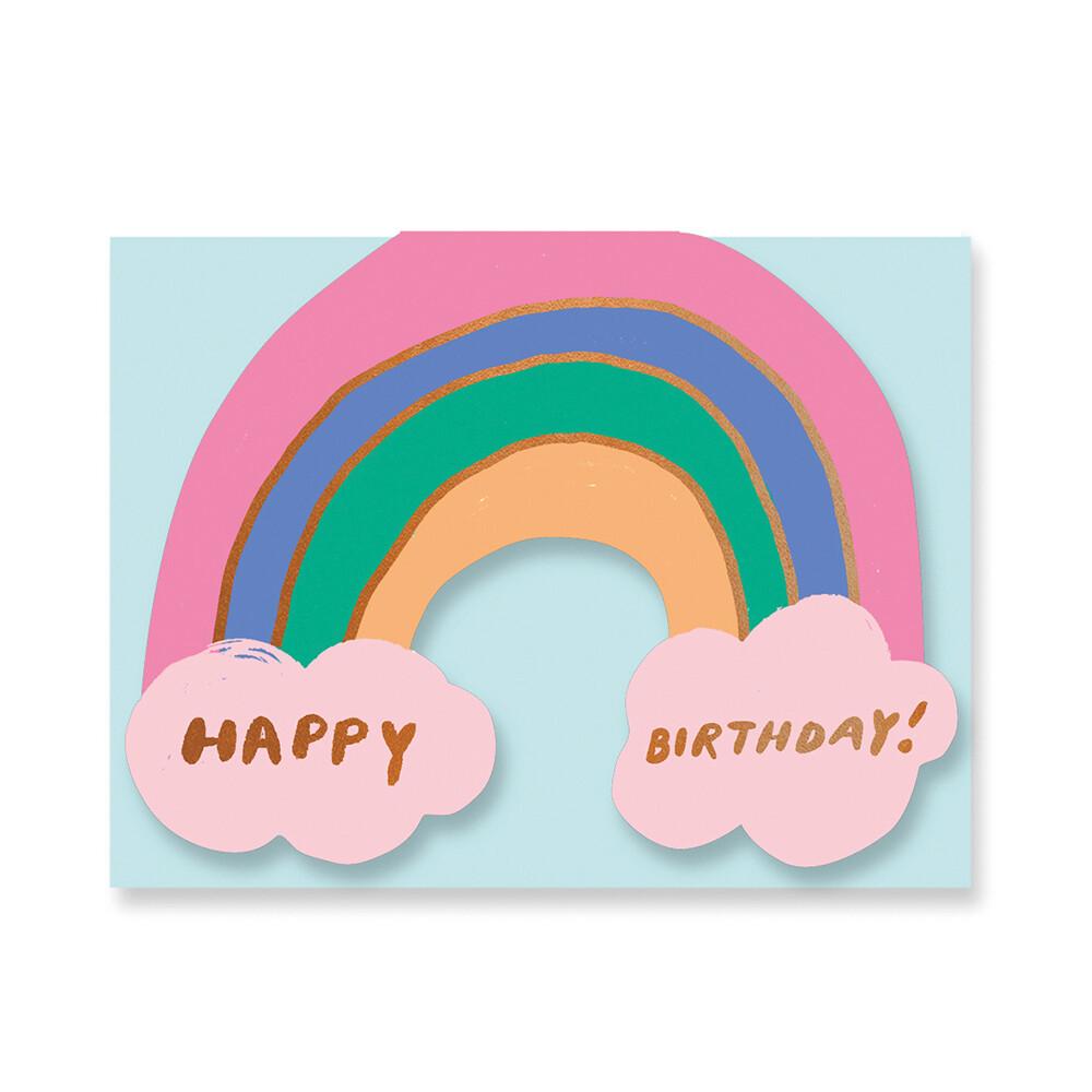 Carte double avec enveloppe - anniversaire arc-en-ciel - Carolyn Suzuki