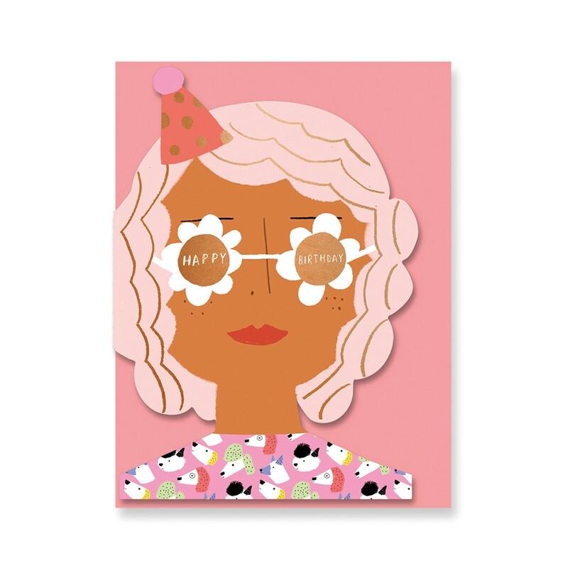 Carte double découpée avec enveloppe - Caroly Suzuki - Birthday girl