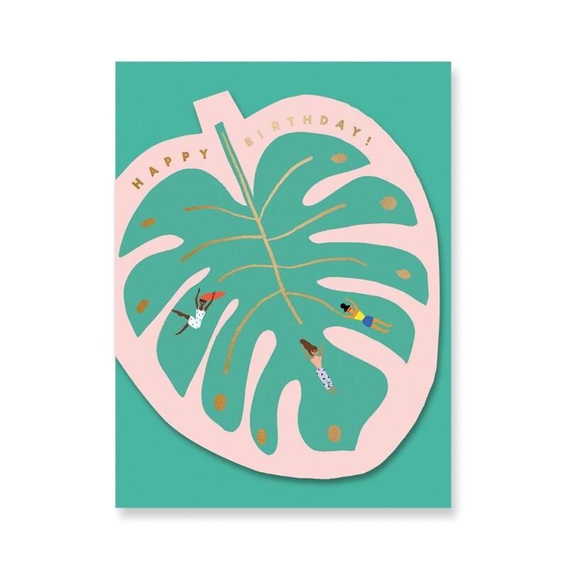 Carte double découpée avec enveloppe - Caroly Suzuki - Feuille
