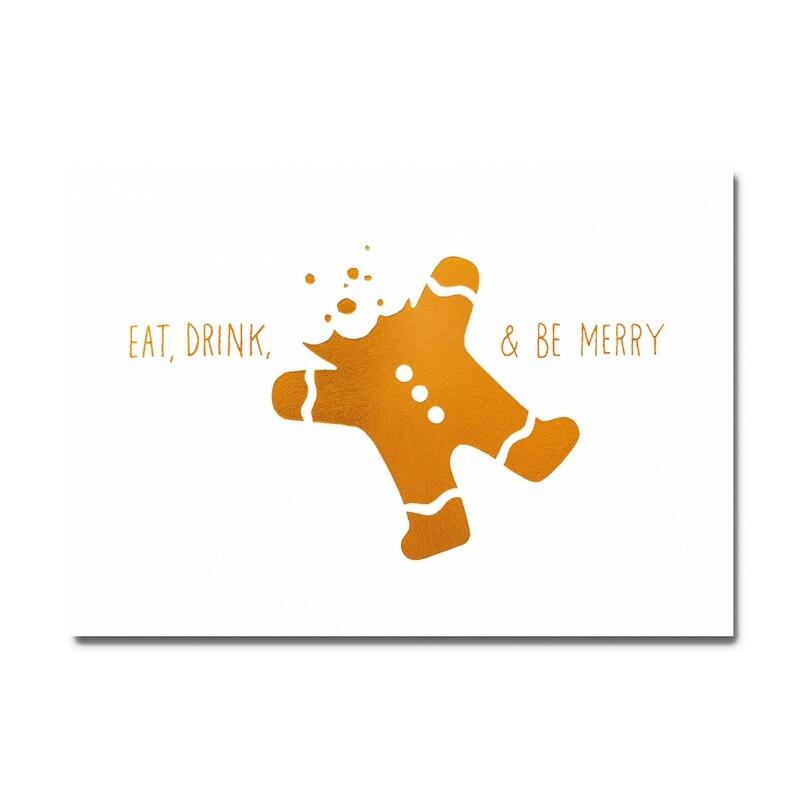 Carte postale - Christmas eat drink