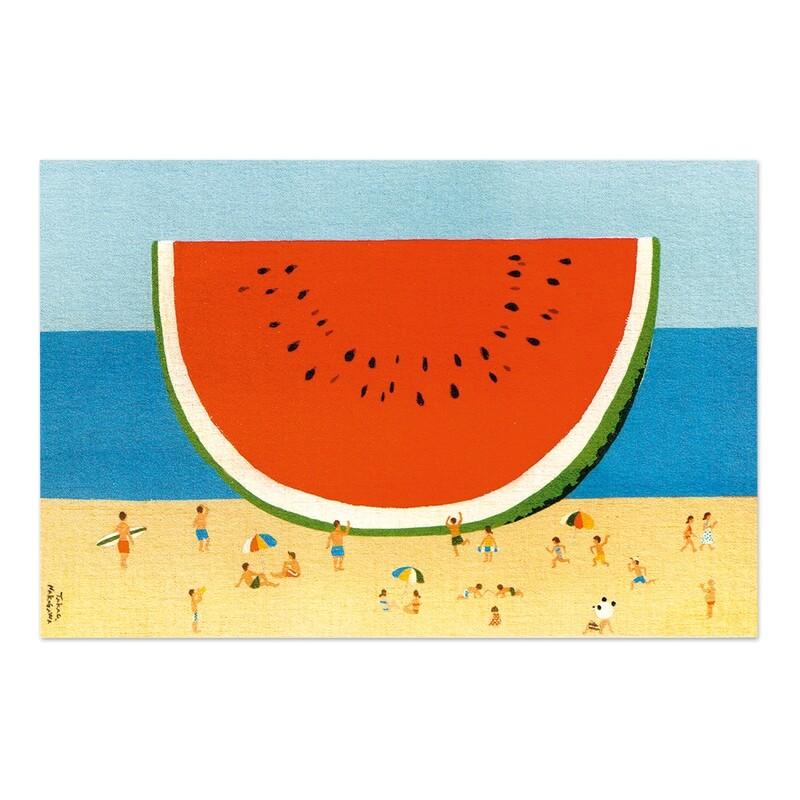 Carte postale - Pastèque à la plage