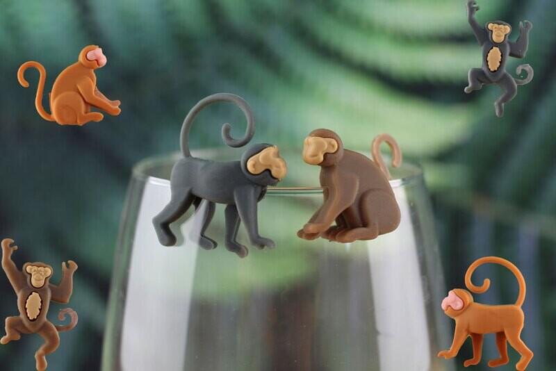 Marque-verre singe