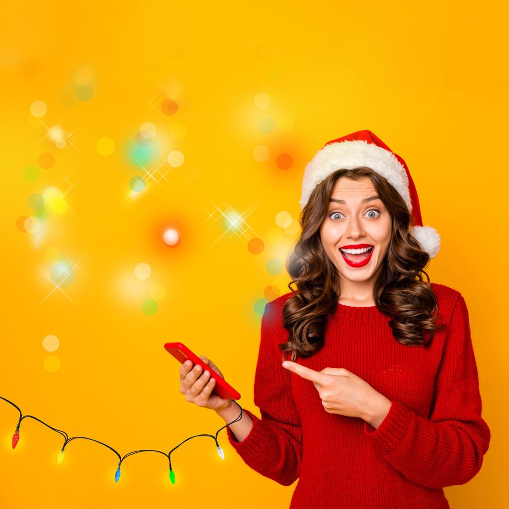 Chargeur iPhone / Androïd de Noël