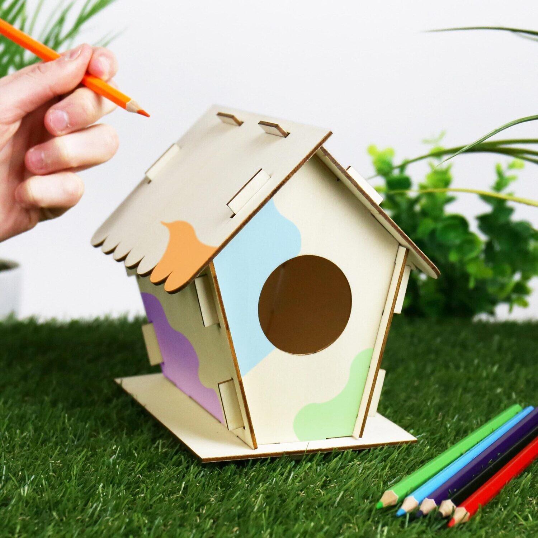 Kit maison à oiseau, à fabriquer soi-même