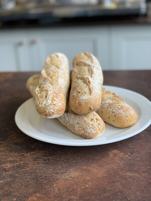 Malted wheat baguette