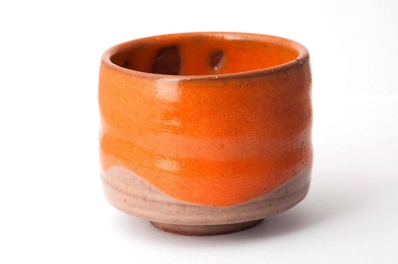 Coupe de poterie orange