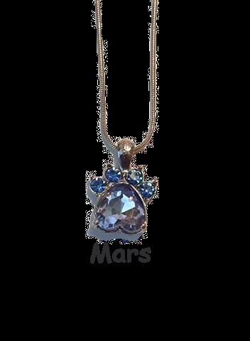 Halsband med månadssten - Mars