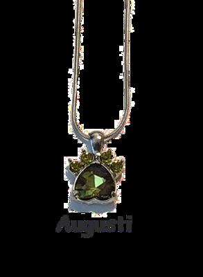Halsband med månadssten - Augusti