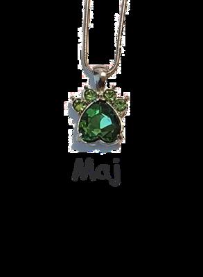 Halsband med månadssten - Maj