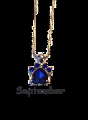 Halsband med månadssten - September