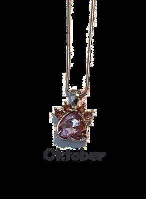 Halsband med månadssten - Oktober