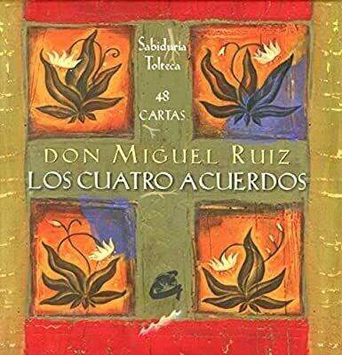"""""""Los cuatro acuerdos"""" Cartas de la sabiduría tolteca (48 Cartas + Libro con afirmaciones)"""