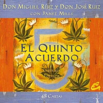 """""""El quinto acuerdo"""" Cartas de la sabiduría tolteca por Miguel Ruiz y Janet Mills. (48 Cartas + Libro de afirmaciones"""""""
