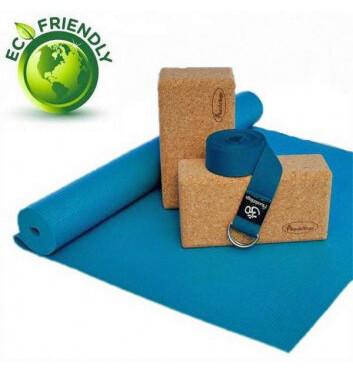 Set de Yoga Eco Friendly 100% natural AZÚL
