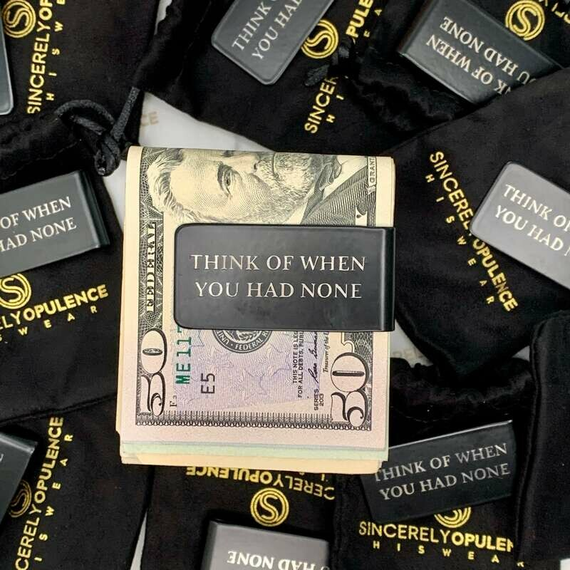Think Of When... Money Clip
