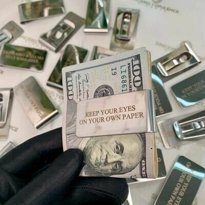 On Your Own Paper Money Clip
