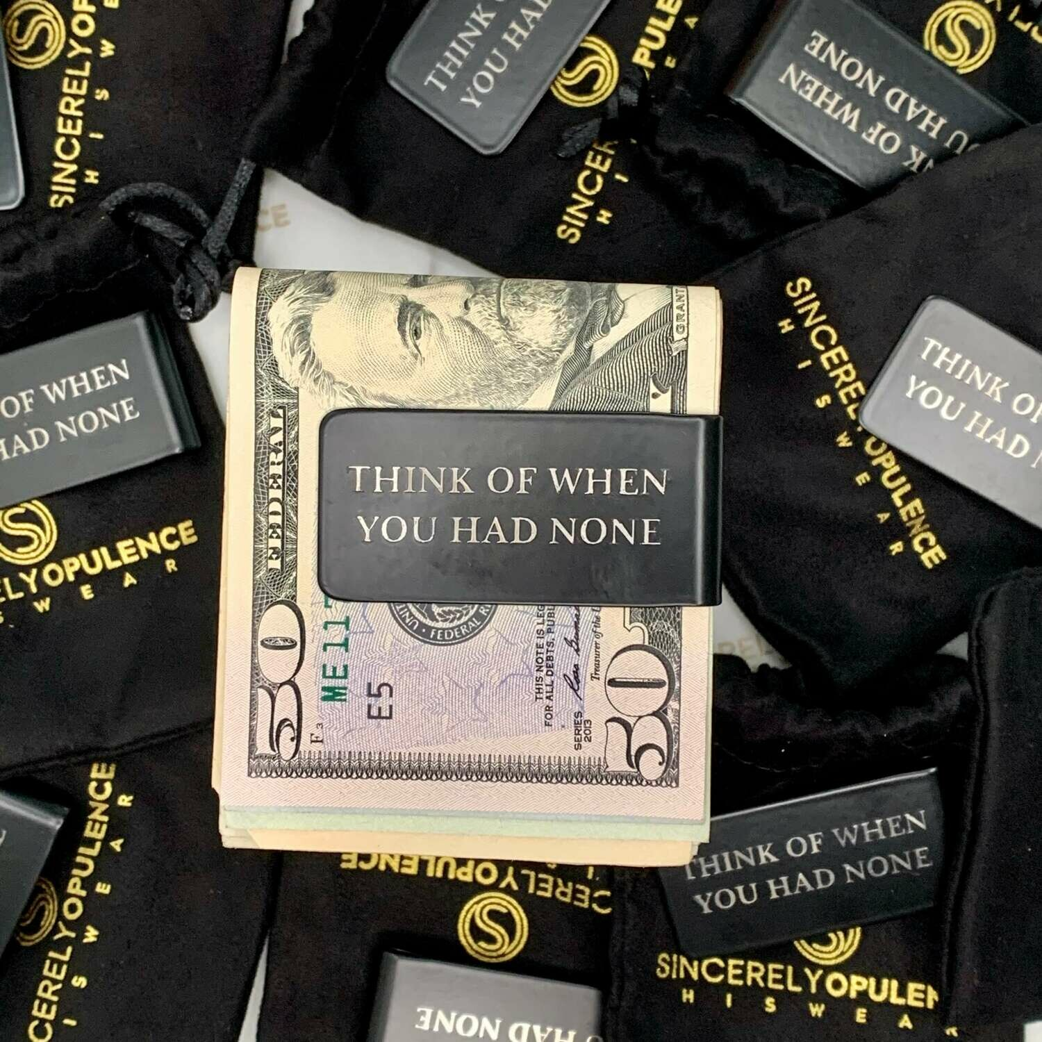 """Think Of When..."" Money Clip"