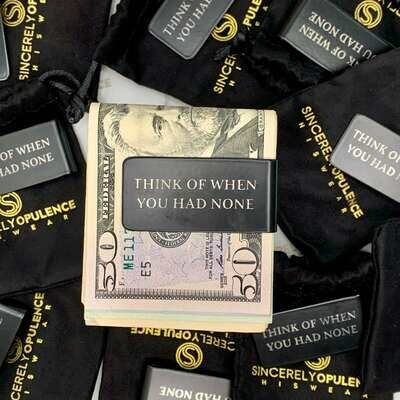 """""""Think Of When..."""" Money Clip"""