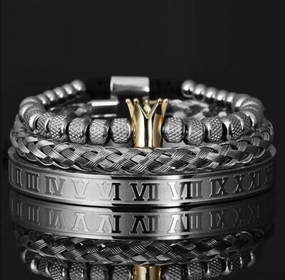 Echelon Bracelet Set (Silver)