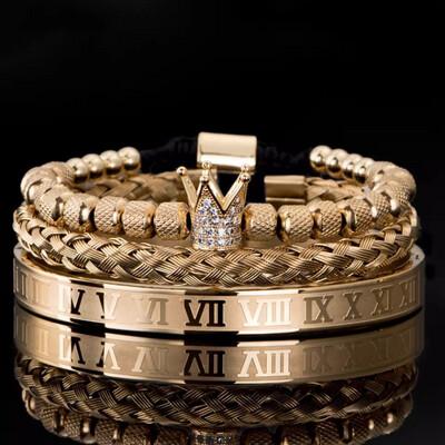 Echelon Bracelet Set (Bling Gold)
