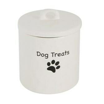 Porcelain Dog Treat Canister