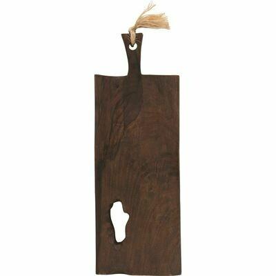 Mango Wood Tray & Cutting Board with Handle