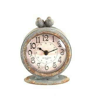 Mantel Clock with Bird