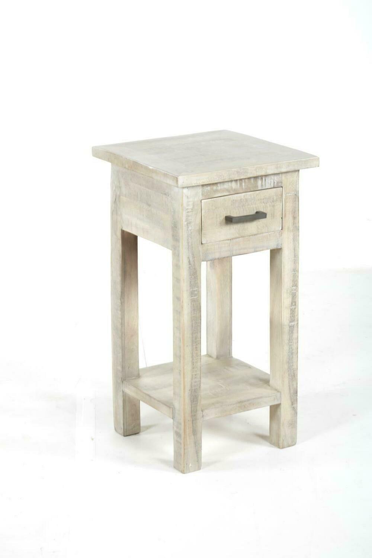 Renew End Table in Vintage Grey