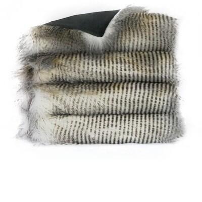 Alaskan Hawk Fur Throw