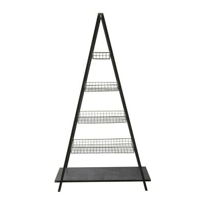 Metal 5 Tier Ladder Shelf with 4 Baskets