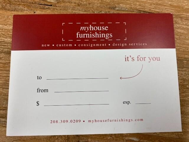 My House Furnishings Gift Card