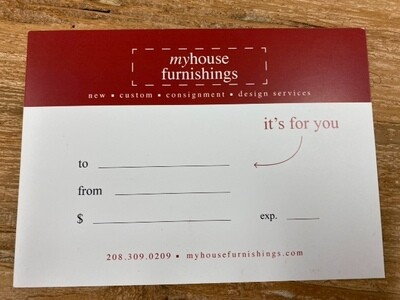 My House Furnishings Gift Card