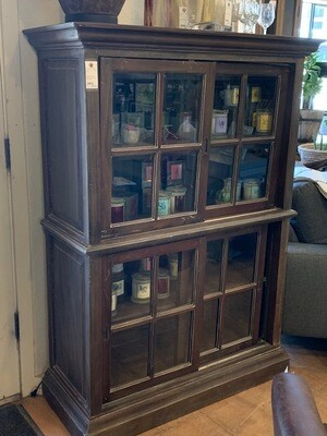 Hutch or Bookcase with Sliding Glass Doors