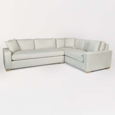 Monroe Sectional in Alpine Tweed with Optional Ottoman