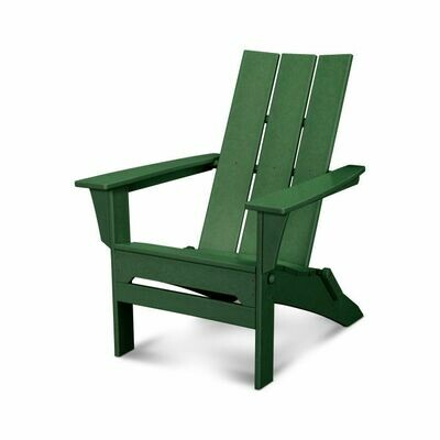 Pair of Green Modern Folding Adirondack Chairs and a side table