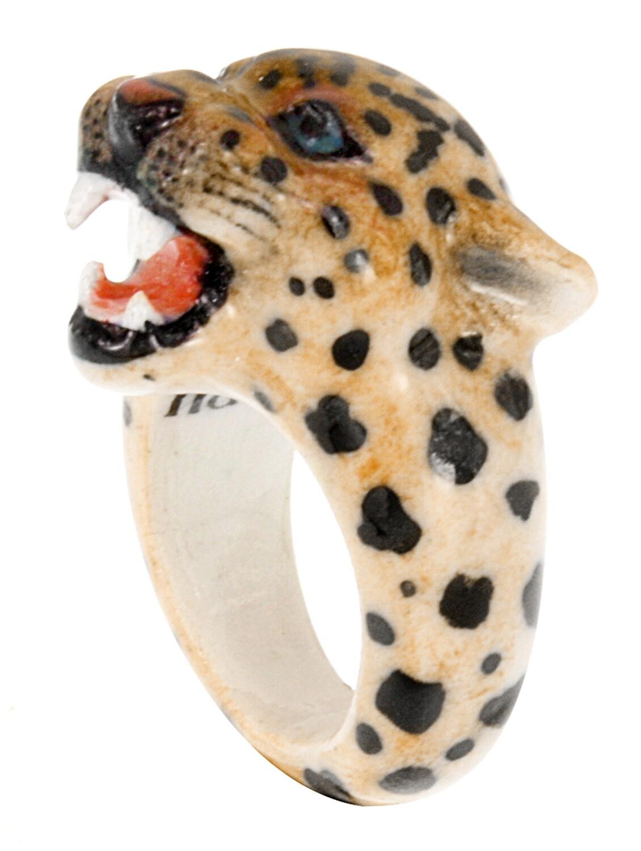 Roaring Leopard Ring